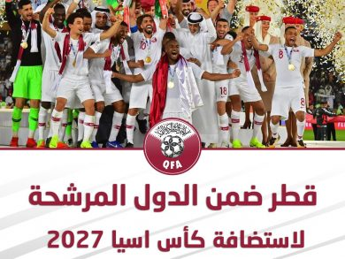 Photo of قطر تعلن تقدمها رسميا بطلب استضافة كأس آسيا 2027