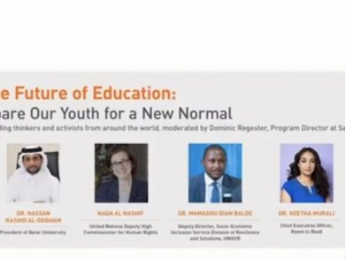 Photo of مؤسسة قطر تنظم حلقة نقاشية عالمية حول مستقبل التعليم وسبل حمايته