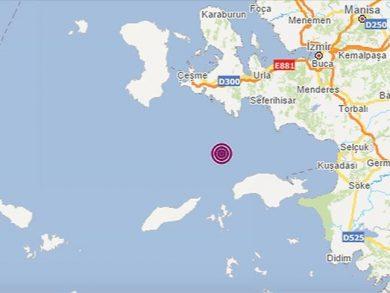 Photo of زلزال جديد بقوة 4.2 قبالة سواحل إزمير التركية في بحر إيجة