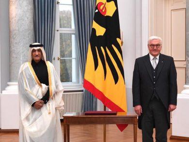 Photo of الرئيس الألماني يتسلم أوراق اعتماد سفير دولة قطر