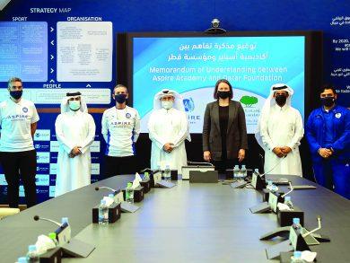 Photo of أكاديمية أسباير ومؤسسة قطر تمددان اتفاقيتهما للتعاون في تدريب كرة القدم