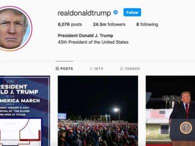 "Photo of ""انستجرام"" يُعلق حساب ترامب لمدة 24 ساعة"