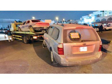 Photo of إزالة 53 سيارة مهملة بالدوحة