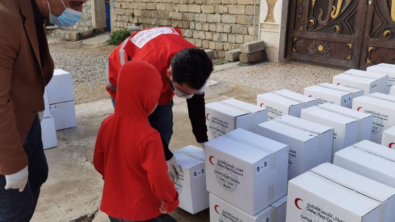 Photo of الهلال الأحمر القطري يوزع مساعدات شتوية في العراق