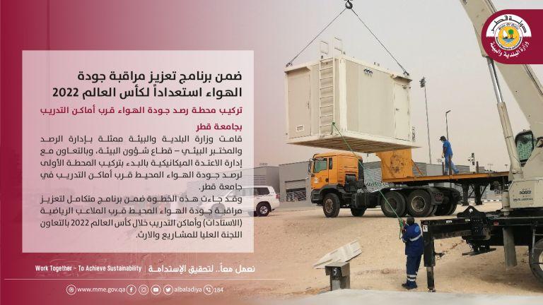 Photo of محطة جديدة لرصد جودة الهواء قرب الملاعب الرياضية
