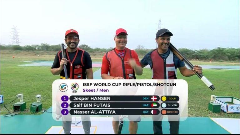 Photo of ناصر العطية يحصد ميدالية برونزية في منافسات كأس العالم للرماية