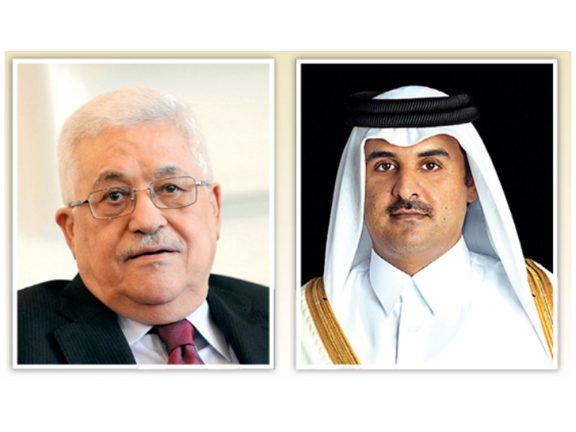 Photo of صاحب السمو والرئيس الفلسطيني يستعرضان سبل الحد من كورونا