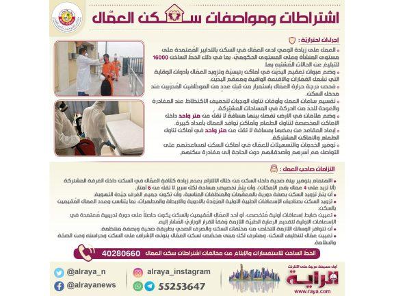 Photo of اشتـراطات ومواصفات السكن المناسـب للعمال