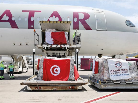 Photo of 45 طناً مساعدات طبية قطرية لأربع دول