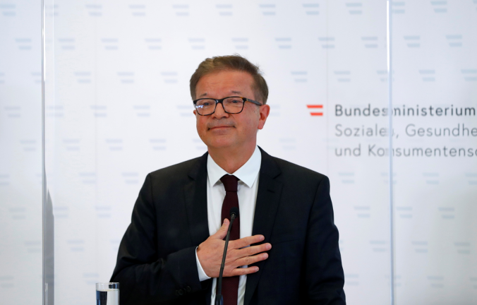 """Photo of استقالة وزير الصحة النمساوي بسبب """"الإنهاك"""" خلال أزمة كورونا"""