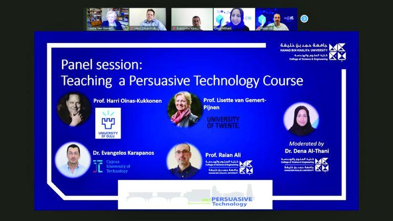 """Photo of كلية العلوم والهندسة تشارك في المؤتمر الدولي لـ """"تكنولوجيا الإقناع"""" بالمملكة المتحدة"""