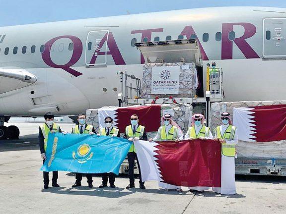 Photo of 9 أطنان مساعدات طبية قطرية لكازاخستان