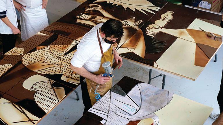 Photo of لوحة لبيكاسو من الشوكولاتة