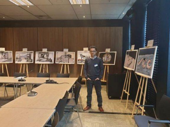 """Photo of فلسطين : إخفاء المعرض الفلسطيني من قاعات مؤتمر""""الجنائية الدولية"""" إخفاء لصوت الضحايا"""