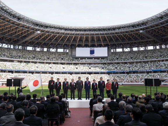 Photo of افتتاح الاستاد الوطني في طوكيو رمز أولمبياد 2020