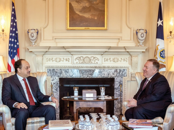 Photo of د. العطية ووزير الخارجية الأمريكي يبحثان العلاقات الاستراتيجية