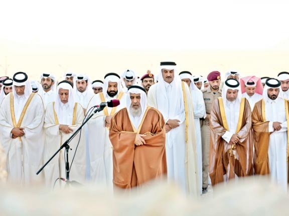 Photo of صاحب السمو يؤدي صلاة الاستسقاء