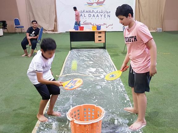 Photo of سباحة وألعاب ترفيهية بشباب الظعاين
