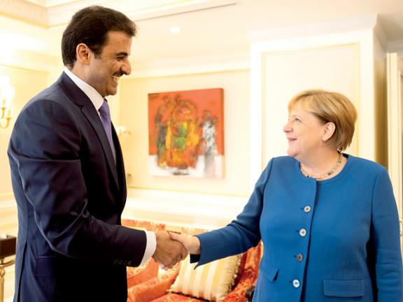 Photo of صاحب السمو والمستشارة الألمانية يبحثان العلاقات الاستراتيجية
