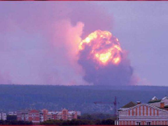 Photo of روسيا: إصابة 4 أشخاص بانفجارات مستودع للذخيرة