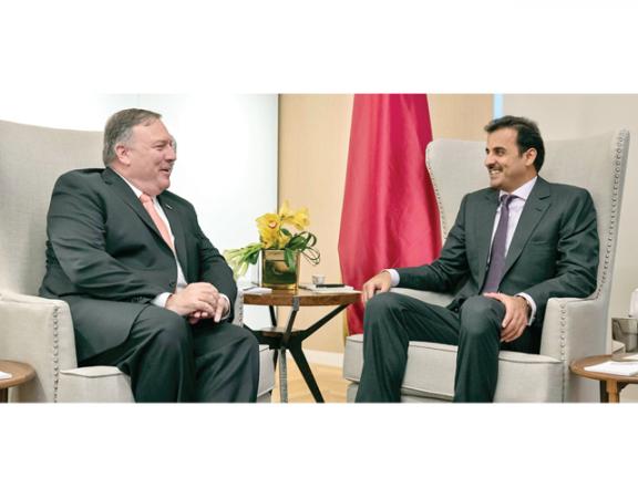 Photo of صاحب السمو وبومبيو يبحثان تعزيز العلاقات الاستراتيجية