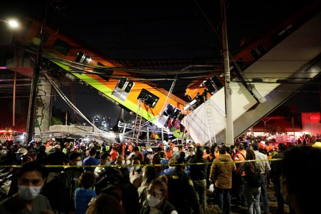 Photo of مقتل 15 على الأقل جراء انهيار جسر قطار مترو معلّق في مكسيكو سيتي