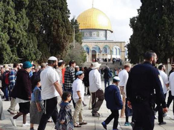 Photo of عشرات المستوطنين وقائد شرطة الاحتلال يقتحمون الأقصى