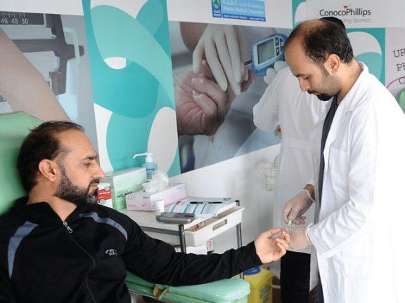 Photo of مؤسسة حمد توفر فحوصات للسكري والضغط
