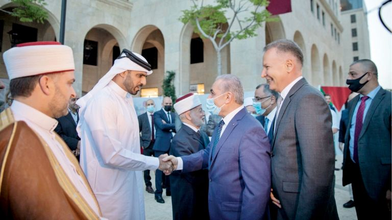 Photo of افتتاح جامع قطر بمدينة «روابي» الفلسطينية