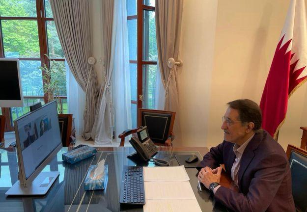 Photo of مفوضة الحكومة الألمانية لسياسة حقوق الانسان تجتمع مع سفير قطر