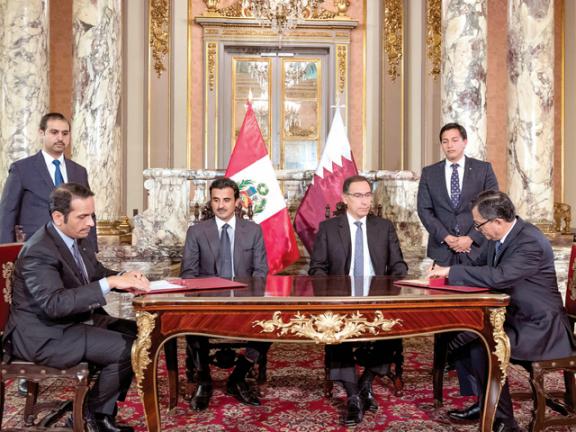 Photo of صاحب السمو والرئيس البيروفي يشهدان توقيع عدد من الاتفاقيات