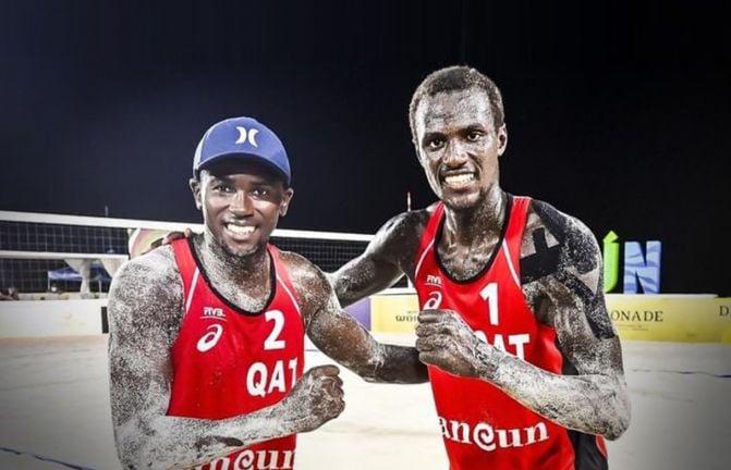 Photo of عنابي الكرة الطائرة الشاطئية يفوز على نظيره السويسري في أولمبياد طوكيو