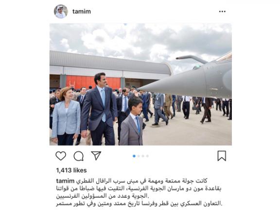 Photo of صاحب السمو عبر إنستجرام: التعاون العسكري مع فرنسا متين ومتطور