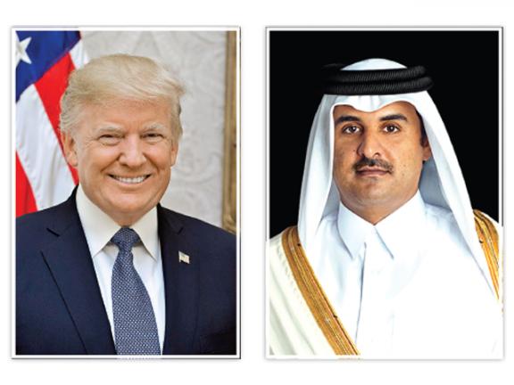 Photo of صاحب السمو وترامب يستعرضان تعزيز العلاقات الاستراتيجية