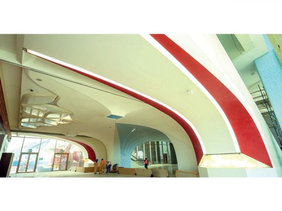 Photo of الريل تنفذ الجزء الداخلي لمحطة المنطقة الاقتصادية