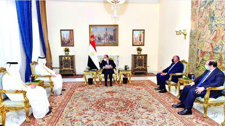 Photo of رسالة من صاحب السمو إلى الرئيس المصري