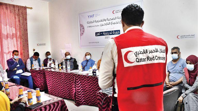 Photo of الهلال الأحمر يطلق مشروع الاستجابة الطارئة للنازحين باليمن
