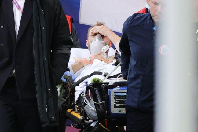 """Photo of الدنماركي إريكسن """"يفيق"""" بعد سقوطه مغشيا عليه في مباراة ببطولة أوروبا 2020"""