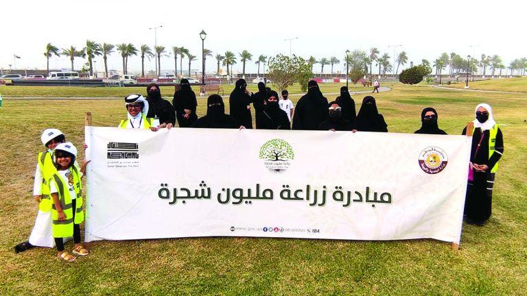 Photo of حملة تشجير في حديقة المتحف