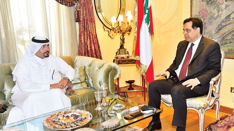 Photo of رئيس حكومة تصريف الأعمال في لبنان يستقبل سفيرنا