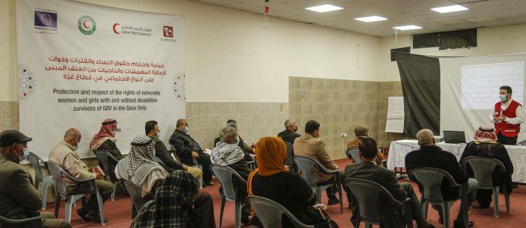 Photo of الهلال الأحمر القطري يدعم حقوق النساء وذوات الإعاقة في قطاع غزة