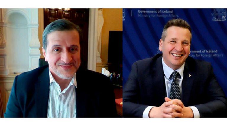 Photo of وزير خارجية أيسلندا يجتمع مع سفيرنا