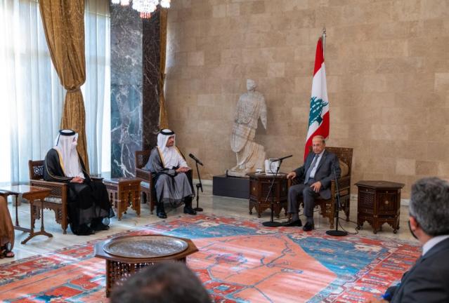 Photo of الرئيس اللبناني يستقبل نائب رئيس مجلس الوزراء وزير الخارجية