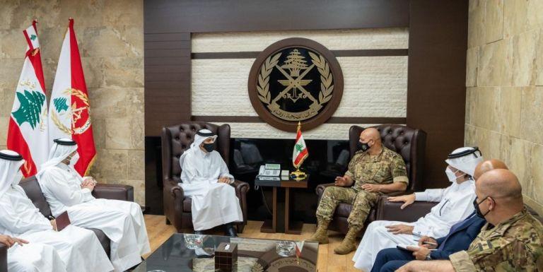 Photo of نائب رئيس مجلس الوزراء وزير الخارجية يجتمع مع قائد الجيش اللبناني
