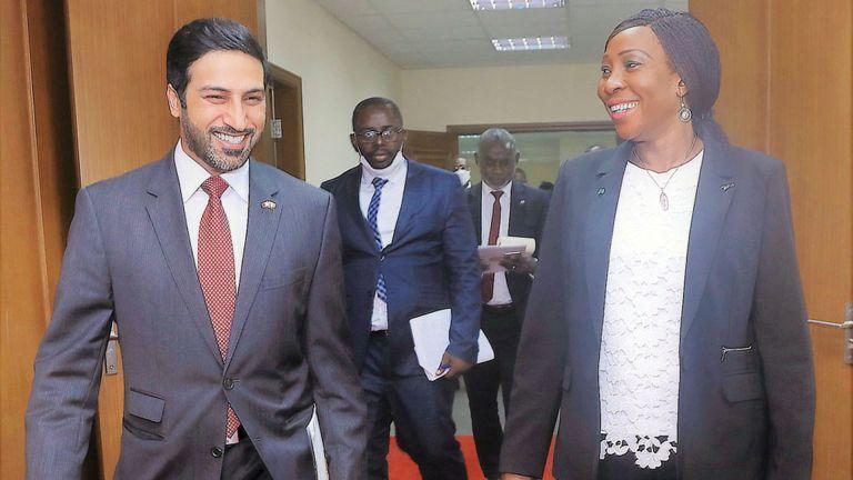 Photo of وزيرة خارجية كوت ديفوار تجتمع مع سفيرنا