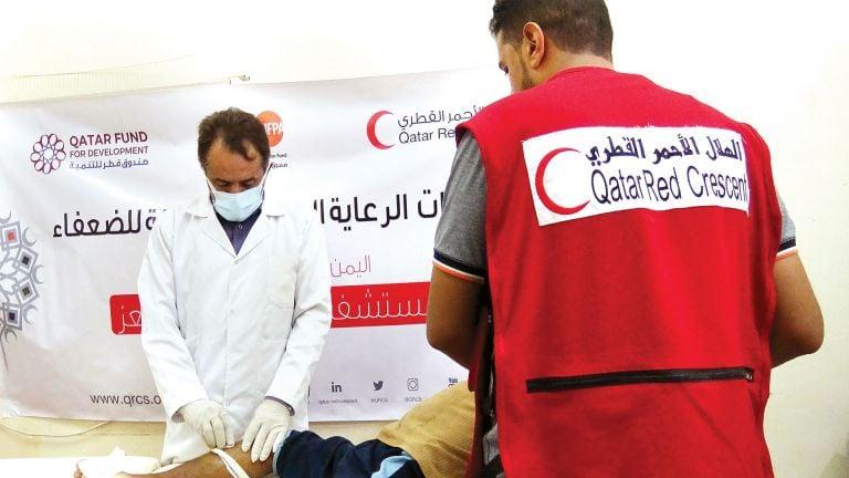 Photo of الهلال الأحمر يدعم المرافق الصحية باليمن