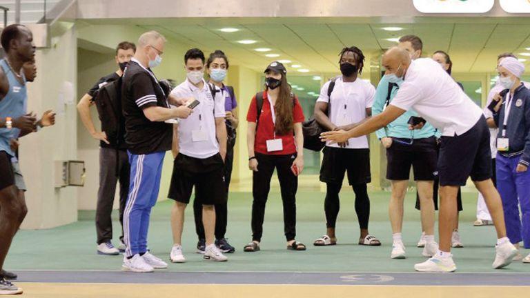 Photo of الفريق الأولمبي للاجئين يدشن تدريباته في أسباير