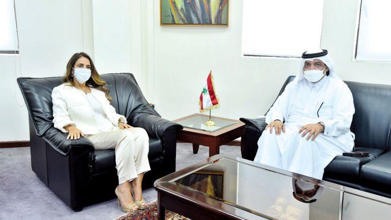 Photo of نائبة رئيس الوزراء وزيرة الدفاع اللبنانية تجتمع مع سفيرنا