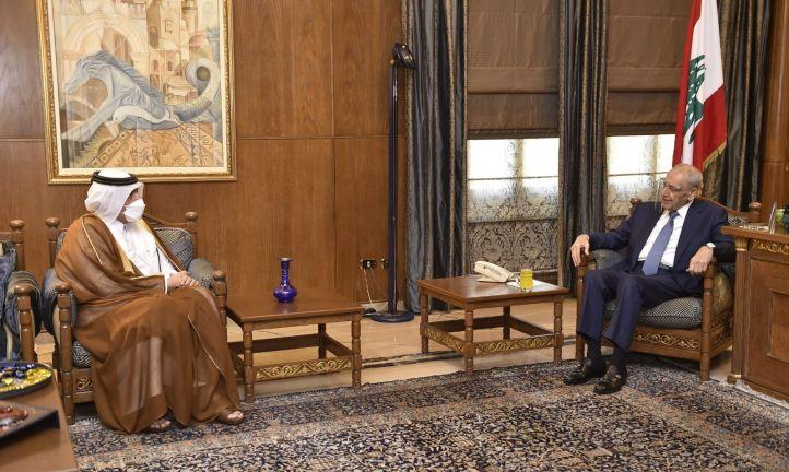Photo of رئيس مجلس النواب اللبناني يجتمع مع سفيرنا في بيروت