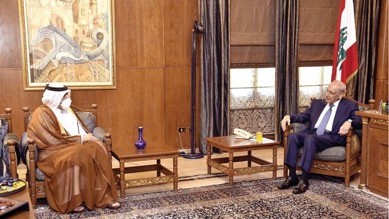 Photo of رئيس مجلس النواب اللبناني يجتمع مع سفيرنا
